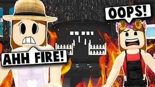 MY BABY BURNED THE HOUSE DOWN! (Roblox Bloxburg) Roblox Roleplay