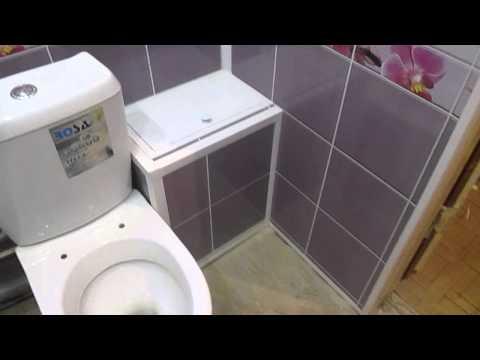 Ремонт ванной комнаты ПВХ панелями под ключ