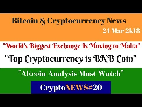 CryptoNEWS#20, World's Biggest Exchange Is Moving to Malta, Top Crypto Coin BNB , Altcoin Analysis