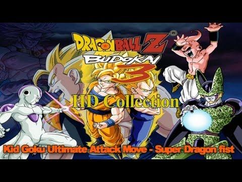 Dragon Ball Z Budokai 3 HD Collection - Kid Goku Ultimate Attack Move - Super Dragon Fist