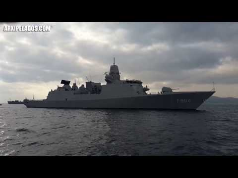 """HNLMS DE RUYTER F804 (Arrival at piraeus port) Greece"