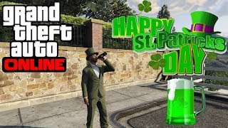 Grand Theft Auto 5 - How To Create A Leprechaun Outfit (St. Patrick
