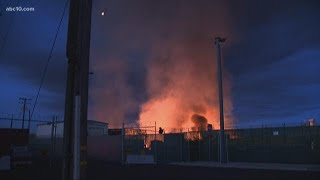Business owners blame homeless for Stockton warehouse fire