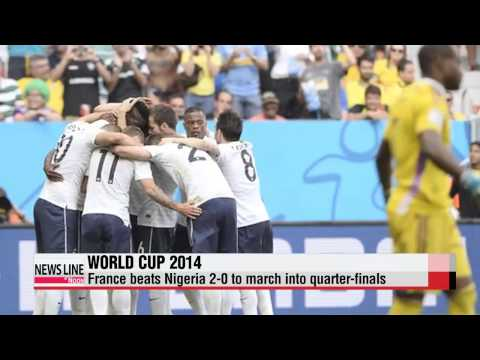 World Cup: France wins, enters quarterfinals with Germany