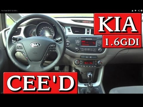 Kia Ceed 2013 1,6 GDI L