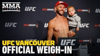 UFC Vancouver Official Weigh-In Highlights - MMA Fighting