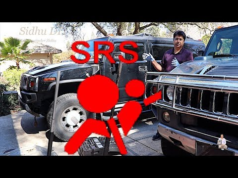 How To Fix Airbag Warning Light | SRS Light Fix on HUMMER | Service Air Bag Malfunction