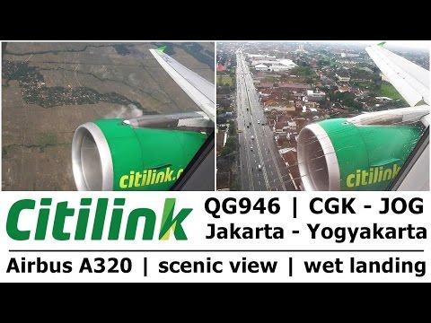CITILINK QG946 | Jakarta - Jogja | Scenic view of Java | Trip Report