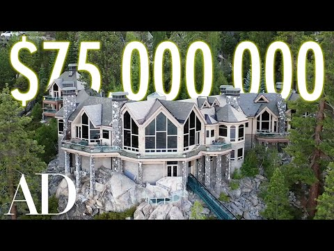 Inside a $75M Lake Tahoe Mansion with a Hillside Tram   On the Market   Architectural Digest
