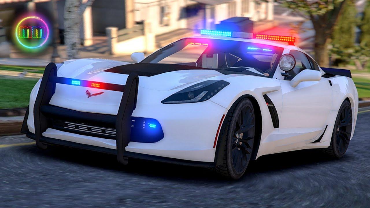 Corvette Police Car: LSPDFR Sports Car Patrol