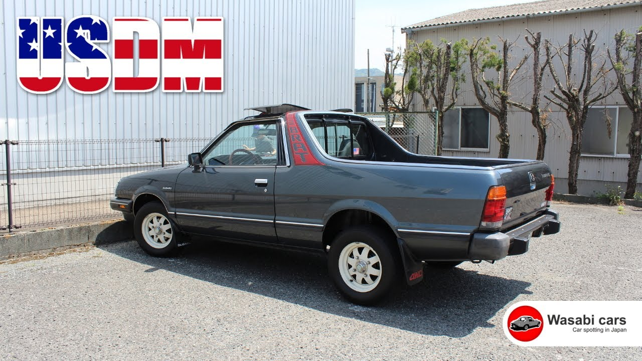 spotted in japan a 1986 usdm subaru brat youtube. Black Bedroom Furniture Sets. Home Design Ideas