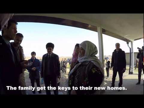 New houses for people living on a pesticide dump in the south of Tajikistan