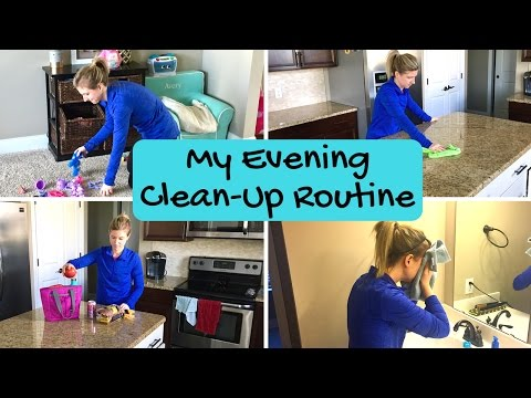 MY QUICK EVENING CLEAN-UP ROUTINE | Working Mom