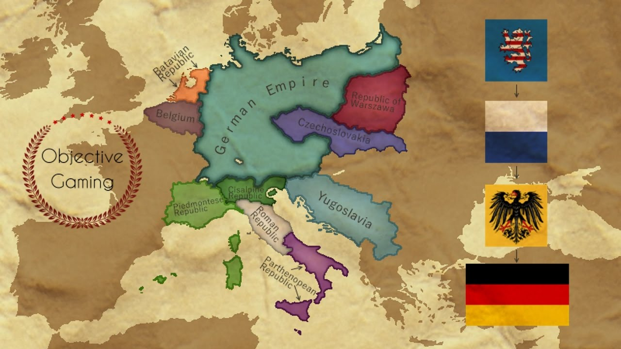 EU IV - Playing tall as Germany - Timelapse - YouTube