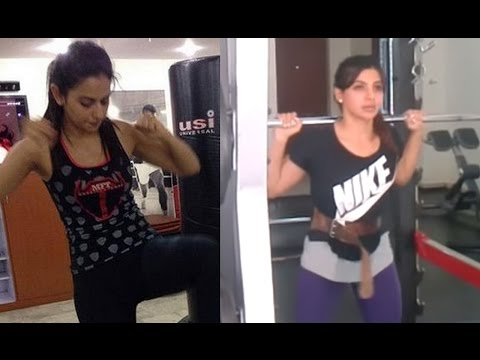 Samantha And Rakul  Workout Videos |...