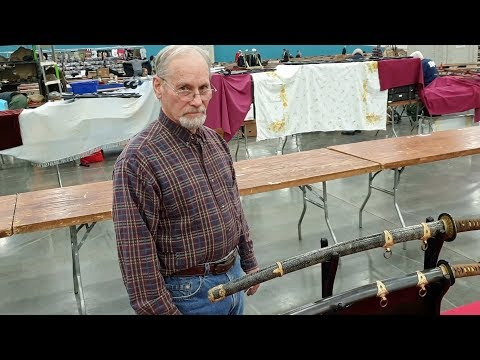 Japanese Katana Swords, Interview With A Big Specialist.  Navy And Army Officers Swords!