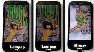 Lollipop 5.1.1 vs Lollipop 5.0.2 vs Kitkat 4.4.4 Perfomance Comparison-App opening Speed Test Moto G