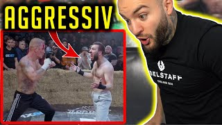 UKRAINISCHER GLADIATOR gegen AGGRESSIVEN FIGHTER! 2 WILDE Kämpfe bei TOP DOG FC 5! RINGLIFE reaction