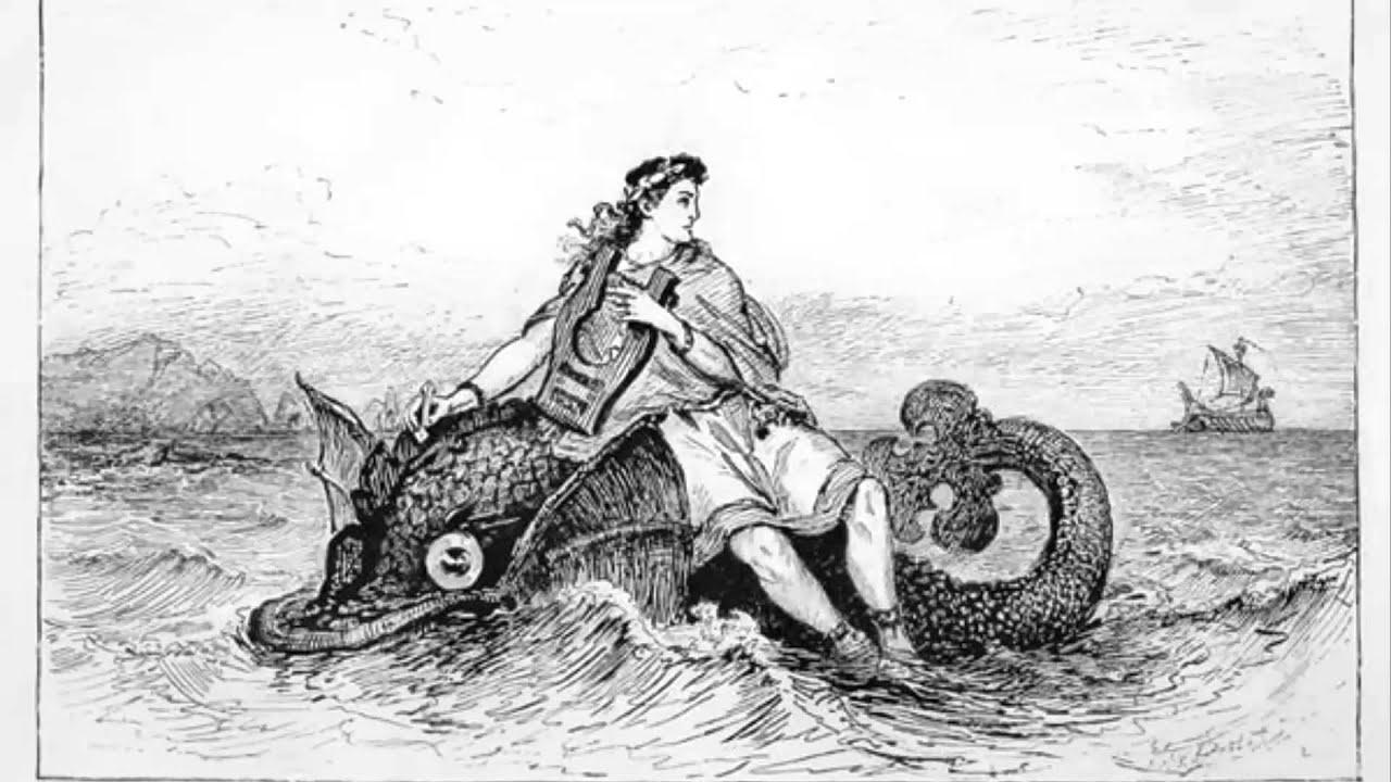 Иллюстрации к легенде об арионе для срисовки
