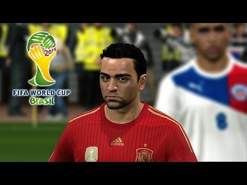 Chile vs. Spain | 2014 FIFA World Cup Simulation | Pro Evolution Soccer 2014 (PES 2014)