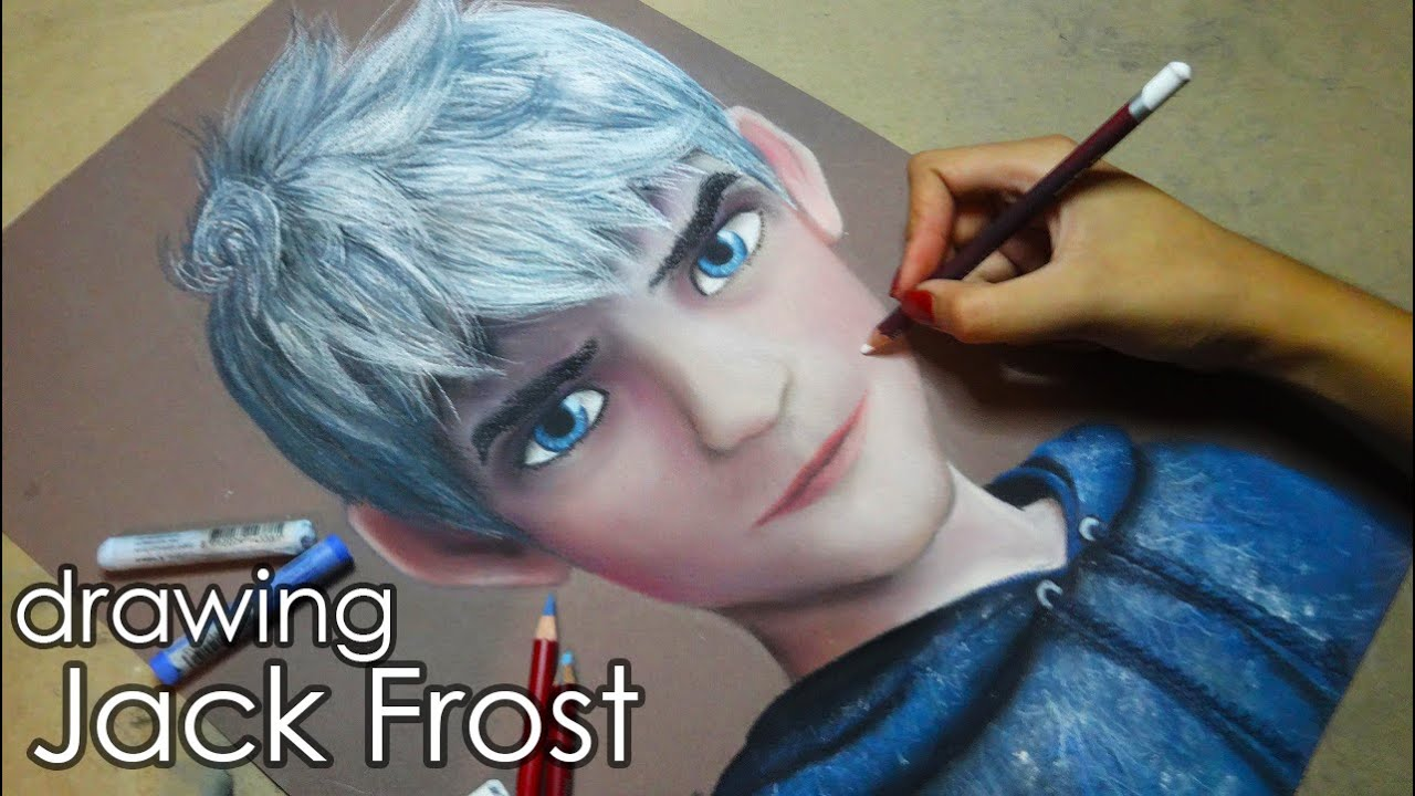 Speed Drawing Jack Frost Diana Daz Youtube