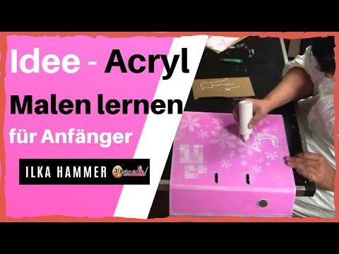 malen-lernen-acryl-//-#2-video-|-schablonentechnik-|-malen-lernen-mit-acrylfarbe-|-auch-für-anfänger
