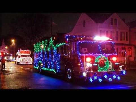 Fire Truck Christmas Parade 2018 P-1 (Siren's,Lights,Music) Wallington NJ 17th Annual Holiday Parade