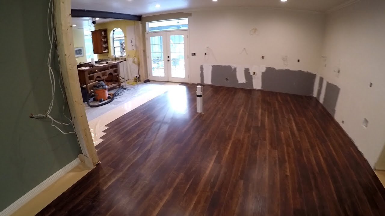 DIY Kitchen Remodel 11 Vinyl Plank Flooring  YouTube