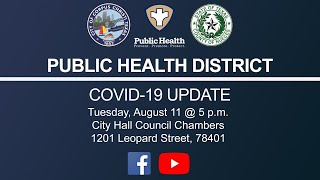 Public Health District Covid-19 Update August 11, 2020