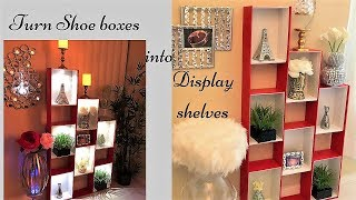 Quick and Easy Shelves made with Shoe Boxes| Brilliant Recycling Hack!