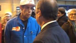 Échange entre Francois Hollande et Sebastien Benoît, CGT