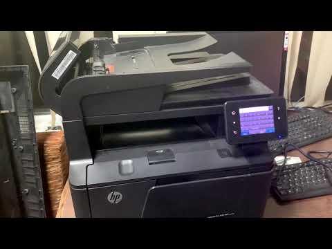 HP LaserJet Pro 400 MFP M425dw сброс пароля и всех настроек аппарата