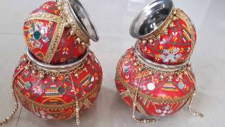 Steel kalash decoration / Kalash decoration / kalash decoration ideas / kalash decoration for pooja