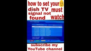 Dish TV ka Signal not found frequency ko kaise thik kare in hindi