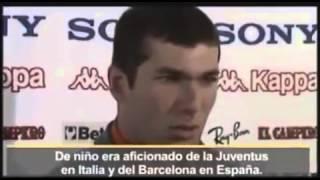 من الذكريات:زيدان مدرب ريال مدريد الحالي:فريقي المفضل في اسبانيا هو برشلونة