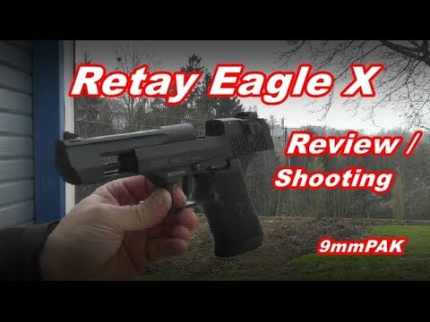 Desert Eagle Schreckschuss Retay Eagle X Review Shooting Test