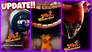 Willys wonderland (2021) new animatronic posters featuring the horror movie characters that will battle nicolas cage as a janitor at an amusement park. sligh...