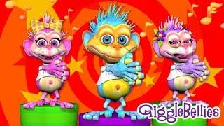 Dancing Songs For Baby Kids Children And Toddler | ABC Song & More | Nursery Rhymes By GiggleBellies
