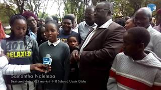 Best candidate, Samantha Nalemba from Hill School narrates how she overcame all obstacles and scored