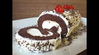 Κορμός με σοκολατένιο παντεσπάνι | Foodouki