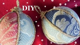 tutorial PALLINE DI NATALE,Christmas Ball,TECNICA PATCHWORK