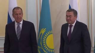 С.Лавров и М.Б.Тлеуберди, Нур-Султан, 9 октября 2019 года