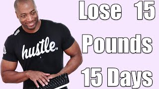 Lose 15 Pounds in 15 Days (15 min. HIIT Home Fat Loss Ski-Step Workout)