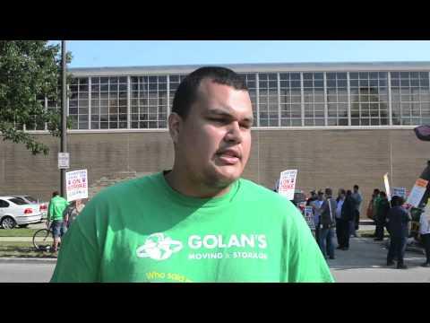 Progress Illinois Golan S Moving And Storage Workers Go On Strike