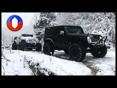 Jeep Wrangler JKs Snow Day Trail Ride
