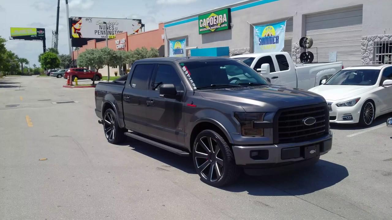 Ford F150 Rims >> 877 544 8473 24 Inch Dub S187 8 Ball Black Milled Rims Ford F150 Chevy Silverado Truck Wheels