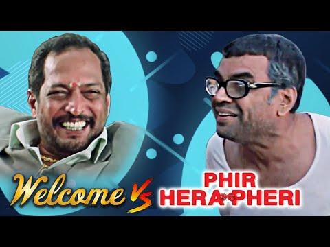 Welcome vs Phir Hera Pheri | Best Hindi Comedy Scenes | Paresh Rawal - Nana Patekar - Akshay Kumar