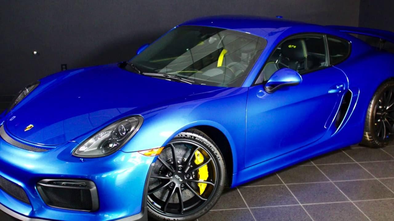 Porsche Cayman For Sale >> 2016 Porsche Cayman GT4 in Sapphire Blue FOR SALE @ Byers Porsche in Columbus, OH - YouTube