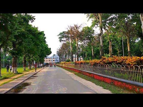 Most Beautiful Moto Ride views at Rajshahi University    Bangladesh in 4K