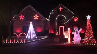 2015 Giles Family Light Show - Christmas Eve / Sarajevo TSO